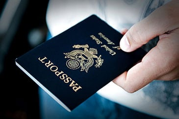 passing passport over to immigrations