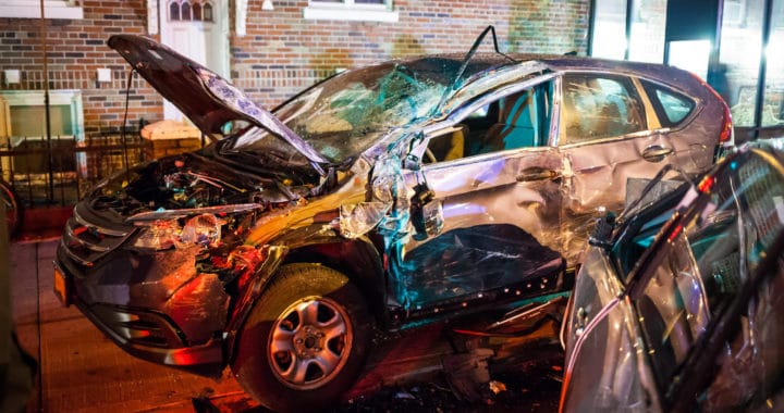 a wrecked Honda CR-V after a car accident