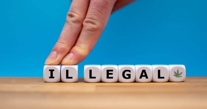letters spelling out the word illegal